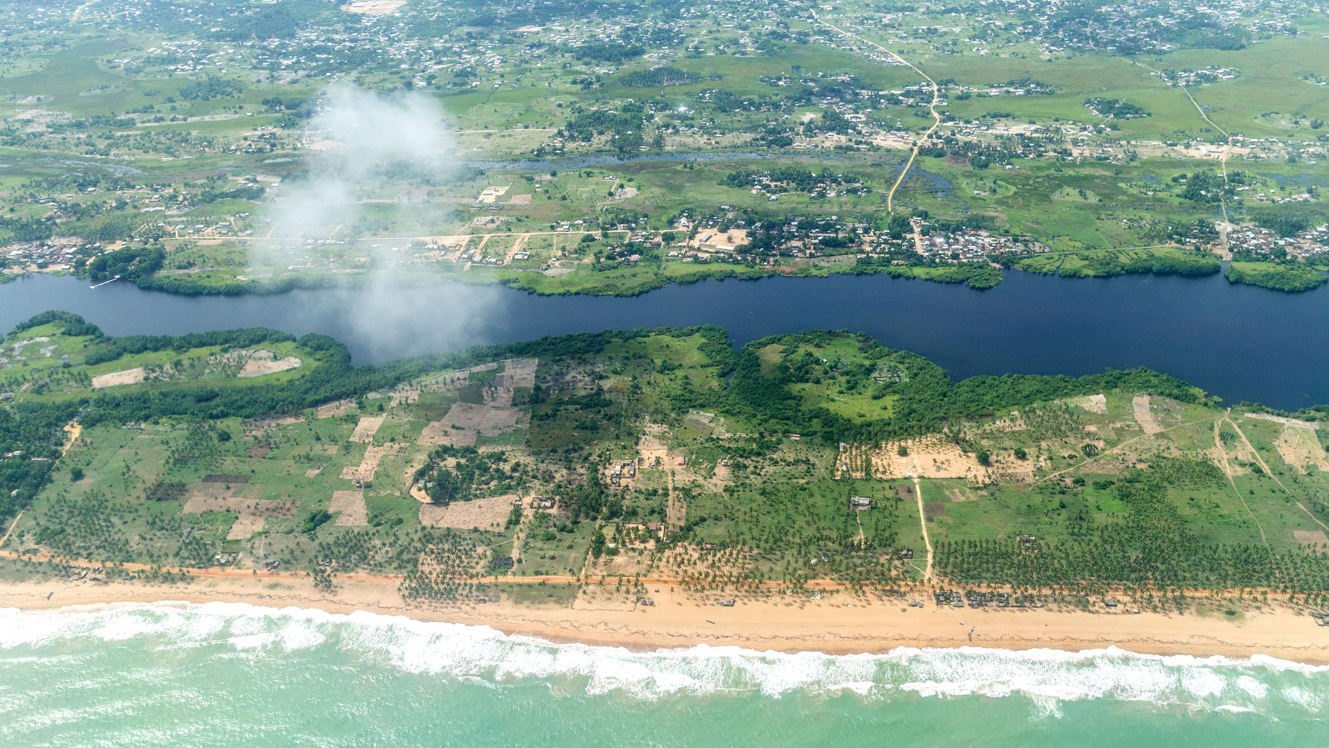 Le Benin Afrique vue du ciel
